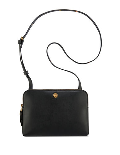 Anne Klein Dual Compartment Crossbody Bag-BLACK-One Size