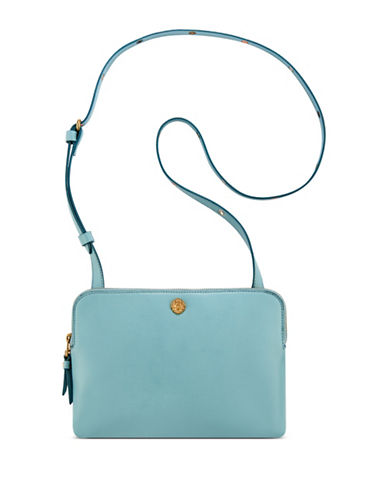 Anne Klein Dual Compartment Crossbody Bag-AQUA-One Size
