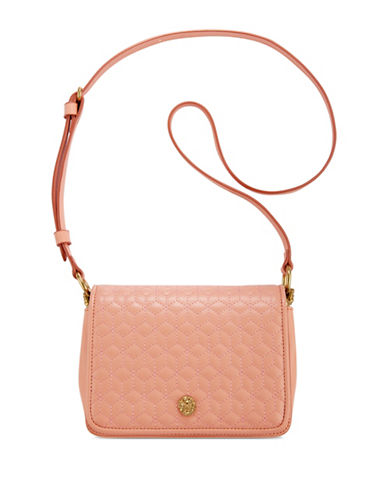 Anne Klein Quilted Flap Crossbody Bag-PEACH-One Size