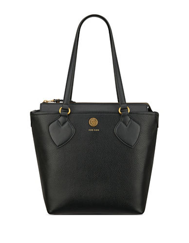 Anne Klein Straight Up Small Tote-BLACK-One Size