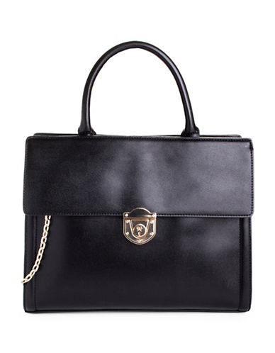 Nine West Rosco Flap Briefcase-BLACK-One Size