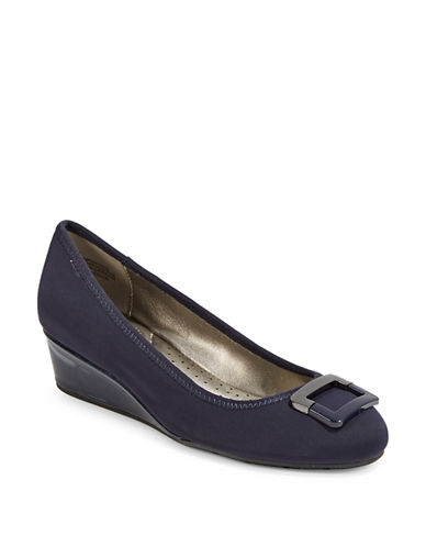 Bandolino Buckle Wedge-NAVY-10