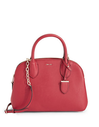 Nine West Beauty Satchel-RED-One Size
