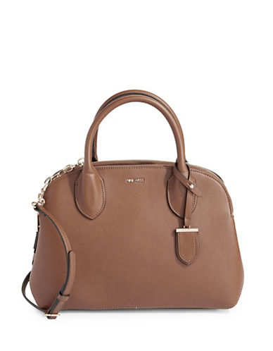 Nine West Beauy Satchel-BROWN-One Size