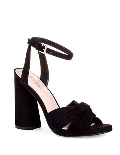 Nine West Lavilah Ankle-Strap Sandals-BLACK-6.5