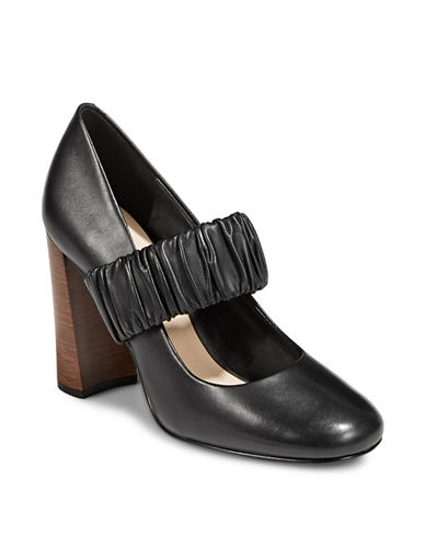 Nine West Decadent Leather Mary Jane-BLACK-5.5