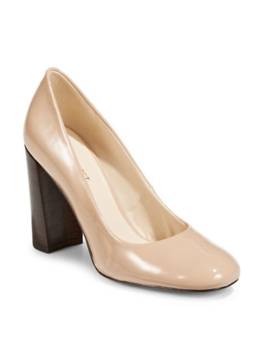 Nine West Denton Round Toe Pumps-NATURAL-6.5