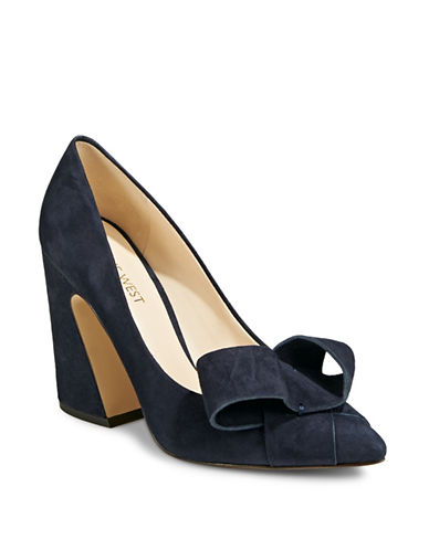 Nine West Haddriana Leather Pumps-NAVY-10