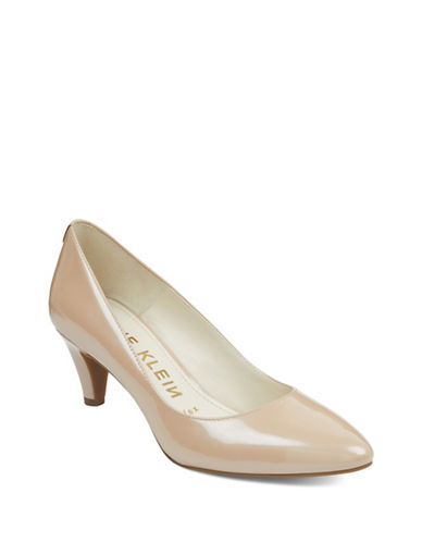 Anne Klein Rosalie Almond Toe Pumps-NATURAL-5.5