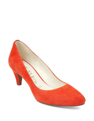 Anne Klein Rosalie Almond Toe Pumps-RED-8