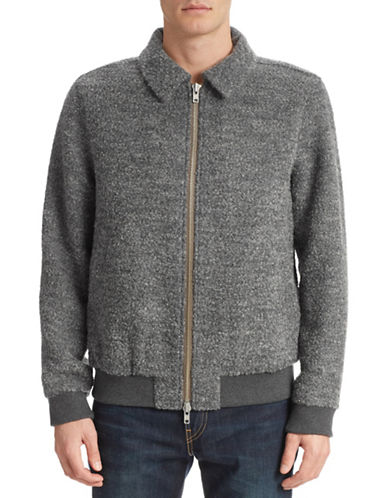 Gant Rugger Curly Flyer Wool-Blend Jacket-GRAPHITE-X-Large