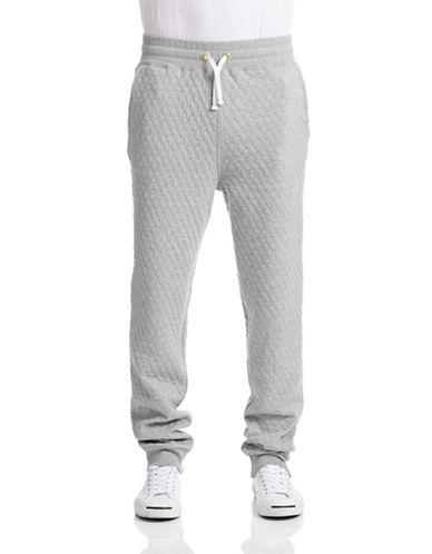 Gant Rugger Quilted Jogging Pants-GREY MELANGE-X-Large