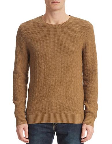 Gant Rugger Basketweave Wool-Blend Sweater-TOFFEE-Medium