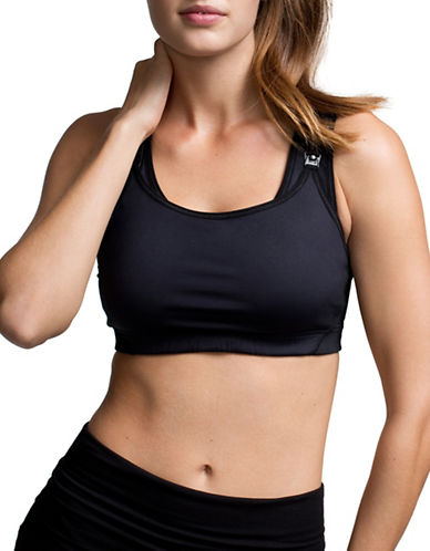 Boob Fast Food Sports Bra-BLACK-Large