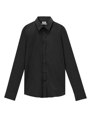 Filippa K M Paul Stretch Shirt-BLACK-X-Large