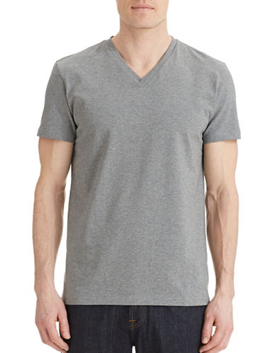 Filippa K V-Neck T-Shirt-GREY-X-Small