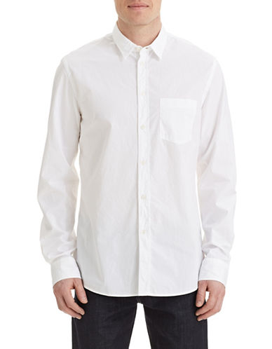 Filippa K M Peter Washed Poplin Shirt-WHITE-Large