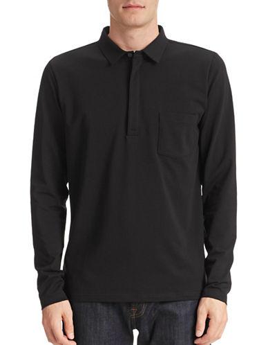 Filippa K Long Sleeve Polo-BLACK-Medium