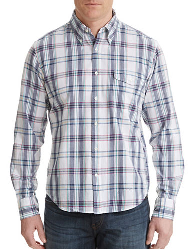 Gant Rugger Vacay Madras Sport Shirt-BLUE-XX-Large