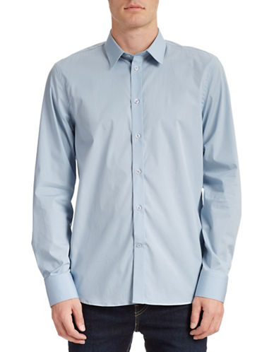 Filippa K Stretch Cotton Dress Shirt-BLUE FOG-X-Large