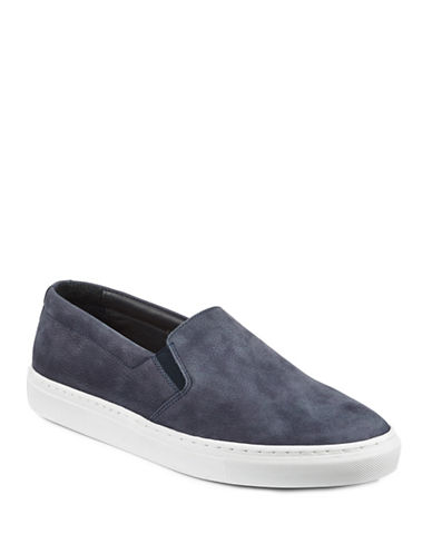 Filippa K Morgan Slip-On Suede Sneakers-NAVY-EU 40/US 7