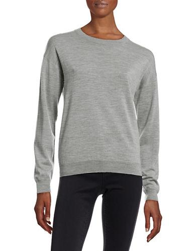 Filippa K Long Sleeve Crew Neck Sweater-GREY-Large 88429352_GREY_Large