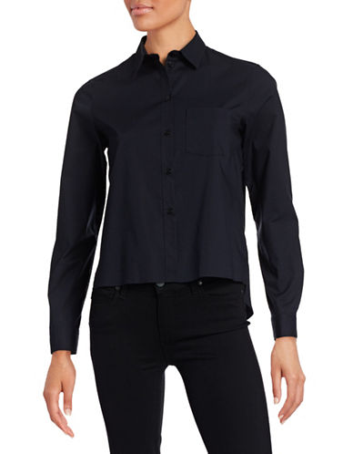 Filippa K Short Cotton Button Shirt-NAVY-X-Small 88429354_NAVY_X-Small