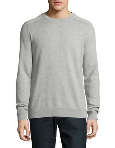 Filippa K Wool-Cotton Crew Neck Sweater-GREY-X-Large