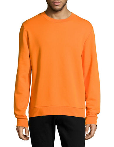 Filippa K Luxe Cotton Sweatshirt-ORANGE-Small