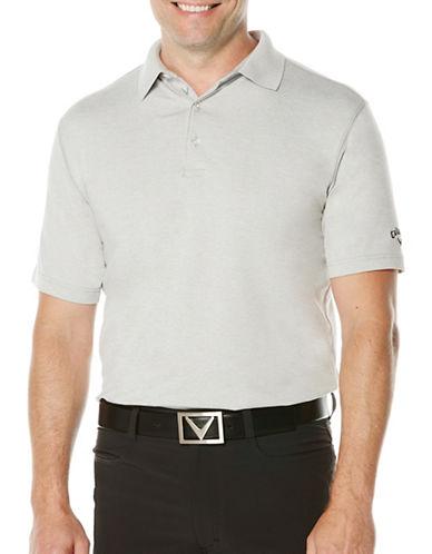 Callaway Short Sleeve Golf Performance Heathered Polo-LIGHT GREY-Medium
