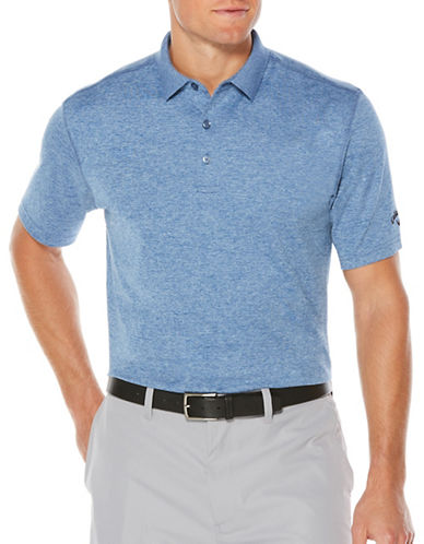 Callaway Short Sleeve Golf Performance Heathered Polo-GREY-Small