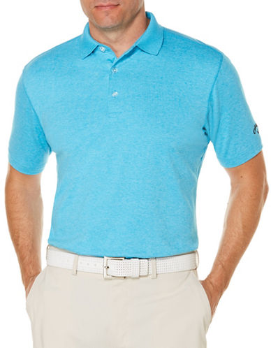 Callaway Short Sleeve Golf Performance Heathered Polo-BLUE-Small