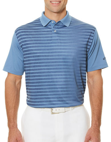 Callaway Short Sleeve Golf Performance Ombre Striped Polo-BLUE-Large