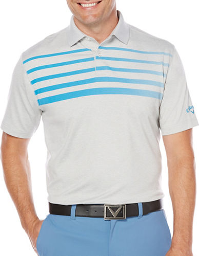 Callaway Golf Performance Ombre Chest Stripe Heathered Polo-BLUE-Medium