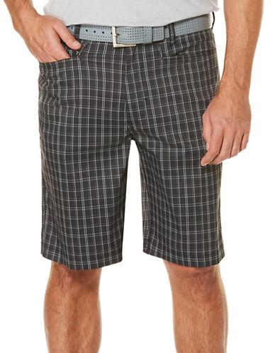 Callaway Golf Performance Printed Plaid Shorts-BLACK-32
