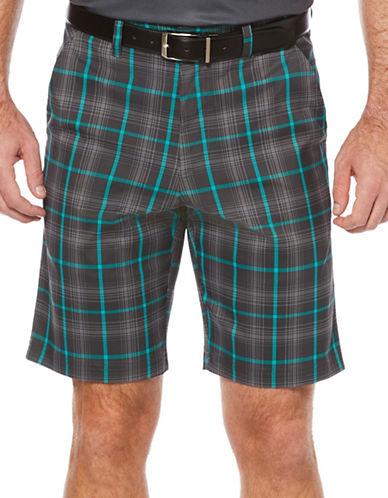 Callaway Golf Performance Plaid Shorts-GREY-34