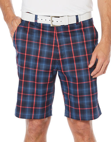 Callaway Golf Performance Plaid Shorts-BLUE-40