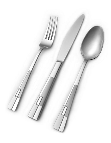 Hampton Frosted 20-Piece Flatware Set-SILVER-One Size
