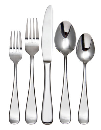 Hampton Melody 20-Piece Flatware Set-SILVER-One Size