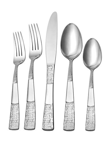 Hampton Mansfield 20-Piece Flatware Set-SILVER-One Size