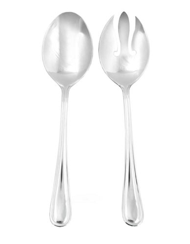 Hampton Melanie 2-Piece Salad Server Set-SILVER-One Size