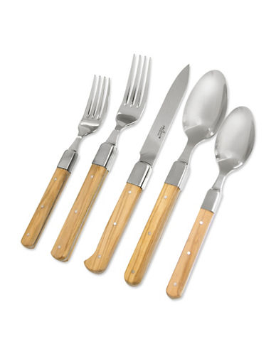 Argent Five-Piece Argent Lynden Cutlery Set-OLIVE WOOD-5pc