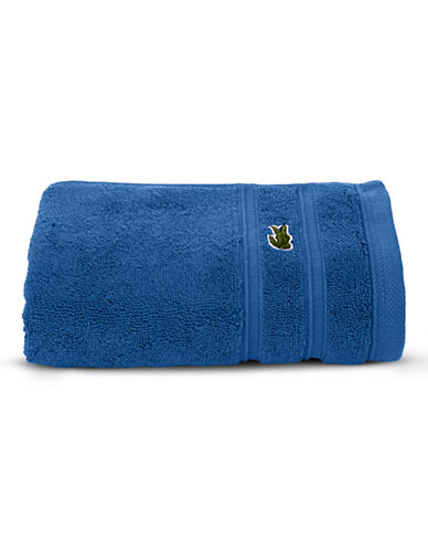 Lacoste Solid Cotton Hand Towel-OCEAN-Hand Towel