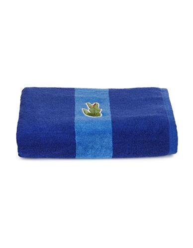 Lacoste Logo Cotton Bath Towel-SURF BLUE-Bath Towel