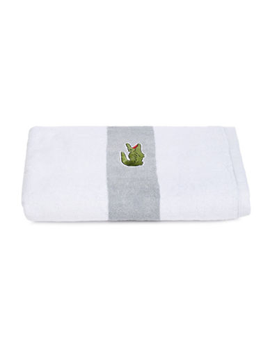 Lacoste Logo Cotton Bath Towel-WHITE-Bath Towel