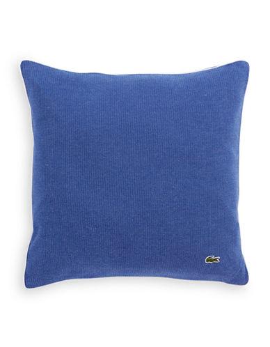 Lacoste Birds Eye Knit Throw Pillow-BLUE-One Size