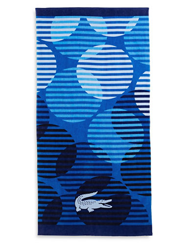 Lacoste Fizzy Beach Towel-BLUE-One Size