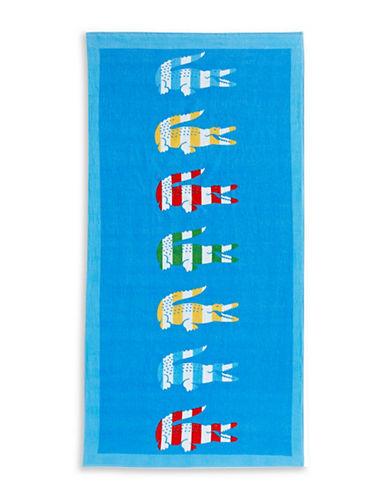 Lacoste Bayadere Bath Towel-DRESDEN BLUE-Beach Towel