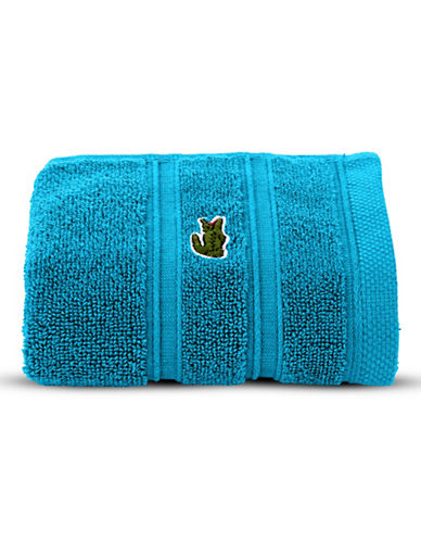 Lacoste Solid Cotton Hand Towel-BLUE JEWEL-Hand Towel