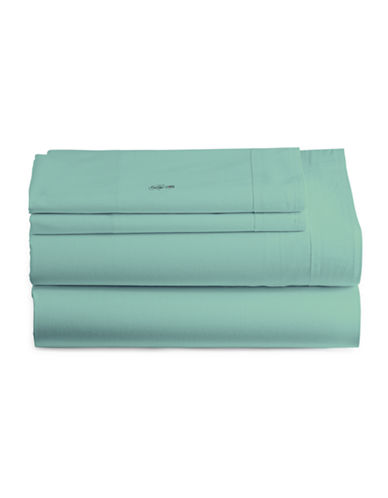 Lacoste Four-Piece Wrinkle-Resistant Sheet Set-MINERAL GREEN-King